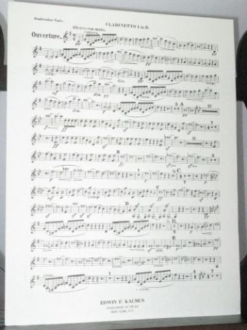 Mendelssohn F - Overture to The Fair Melusina Op 32 Oboe 1 Part